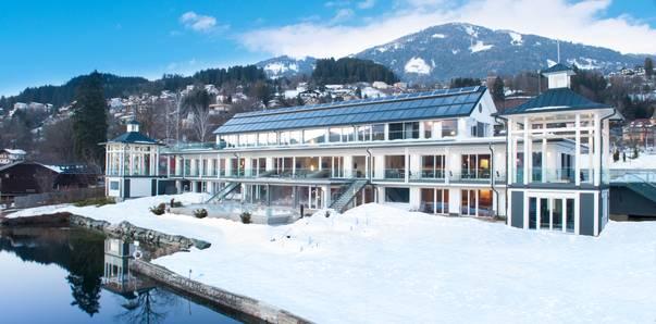 Kärnten Badehaus am Millstätter See im Winter