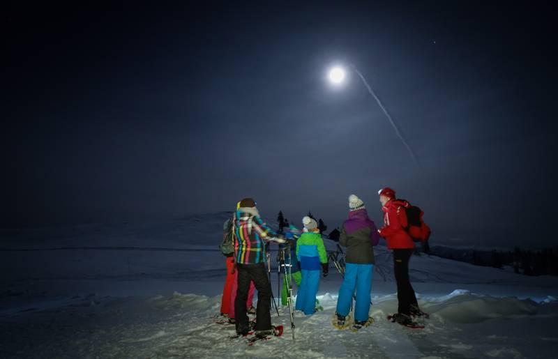 Schneeschuhwanderung bei Vollmond am Dobratsch