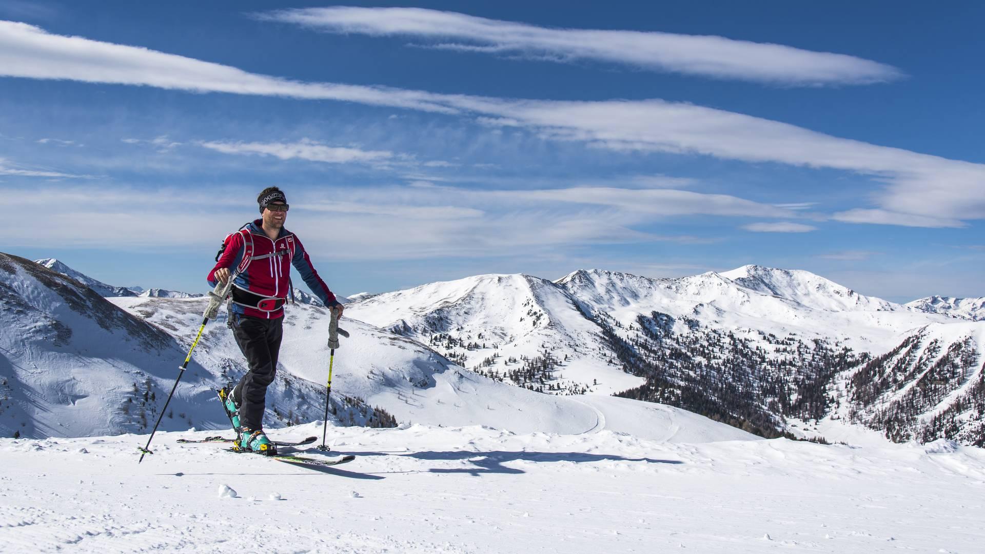 <p>Skitouren in Kärnten, Nockberge Trail, Innerkrems</p>