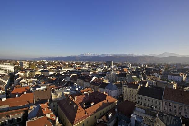 Blick über Klagenfurt