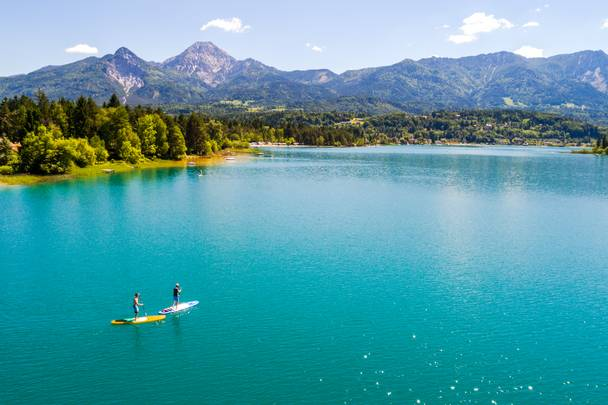 Stand-up Paddling am Faaker See in Kärnten
