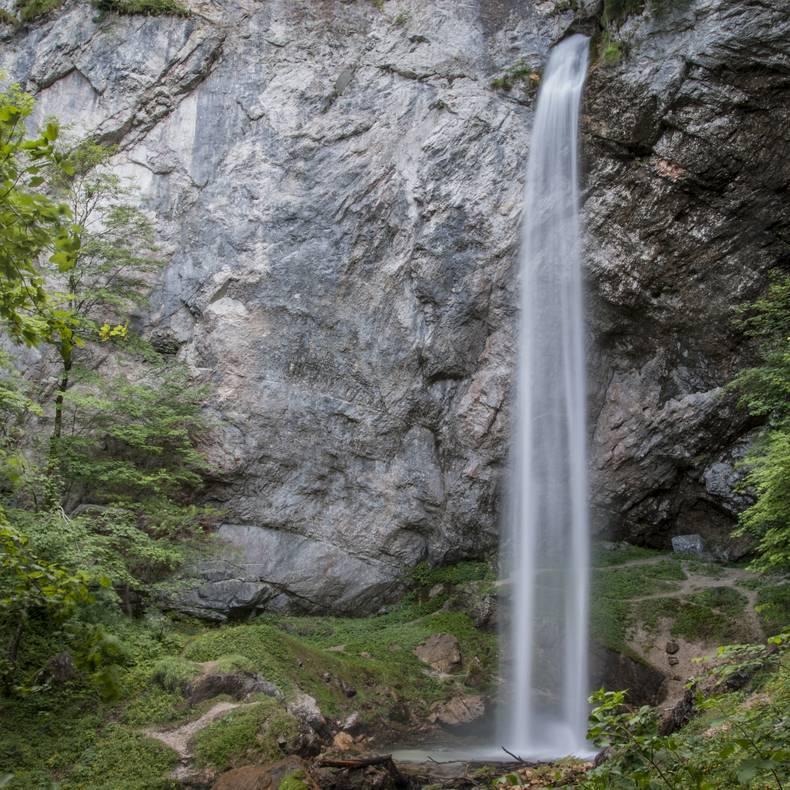 Wildensteiner Wasserfall in Gallizien in Südkärnten Klopeiner See