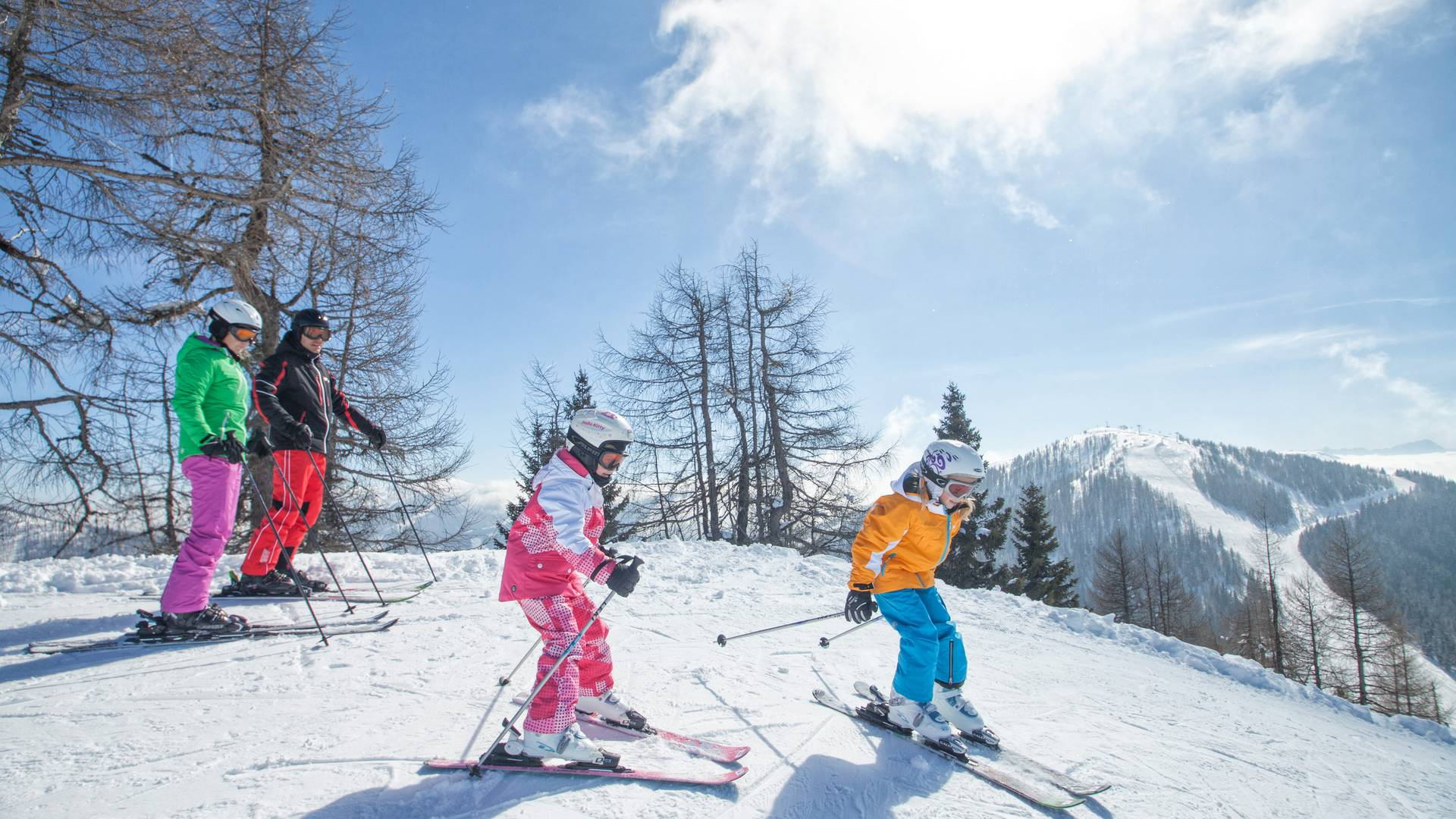 Familienskifahren im Bad Kleinkirchheim