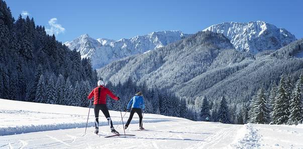 Langlaufen im Winter im Bodental im Rosental