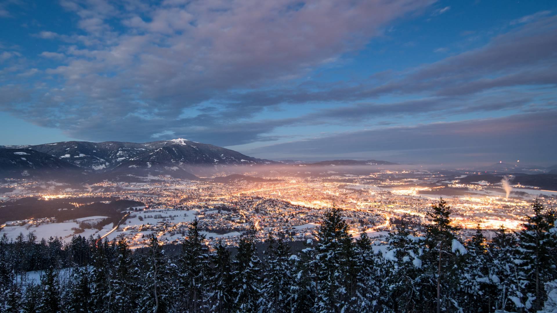 Region Villach Winter Villach Winter Nacht MichaelStabentheiner