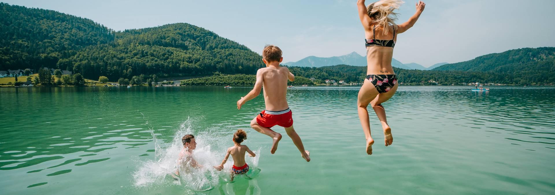 Klopeiner See - Südkärnten - Baden Familie Sommer