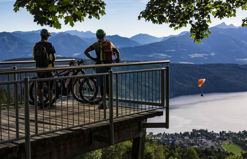 E Bike Sternenbalkon in der Region Millstaetter See