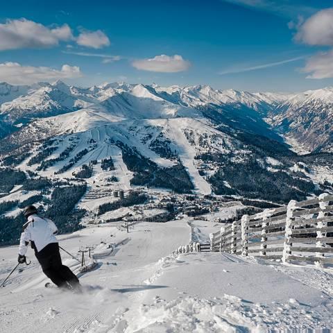 Katschberg_Skifahren mit Panorama