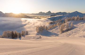 Auf den schönsten Pisten Kärntens Ski fahren lernen.